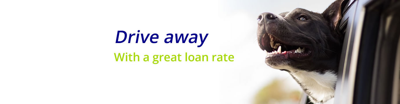 Drive away with a great loan rate